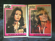 1977 CHARLIE'S ANGELS TRADING CARDS #37 JACLYN & #53 FARRAH VINTAGE COLLECTIBLES