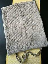 Pottery Barn Pillow Sham Gray Velvet Quilted Standard Size