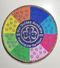 GIRL GUIDES AUSTRALIA 1910 - 2010 CENTENARY BADGE - Big Bright & Colourful
