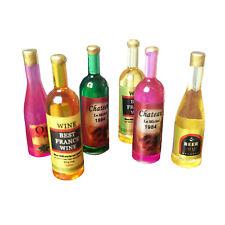 Dollhouse Resin Fruit Wine 6Pcs Set 1:6 Miniature Decor Accessories
