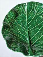 Pugh Packer Creek Pottery Cabbage Leaf Serving Platter Small Bowl Handmade