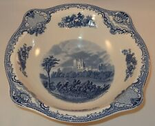 Vintage Johnson Bros Blue Old Britain Castles Bolsolver Salad Serving Bowl VGC