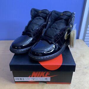 Nike Air Jordan 1 Retro High Black Metallic Gold 2020 GS Size 4.5 Y 575441-032