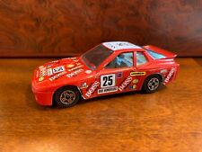 Burago Street Fire Porsche 924 Turbo Red Car Made in Italy 1/43 Scale
