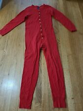 New listing Vintage Duofold Union Suit Red Wool Blend Long Johns One Piece Flap M(38-40)