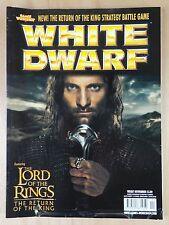 White Dwarf 287 Nov 2003 nuevo retorno del rey juego de estrategia Gratis 1st Clase
