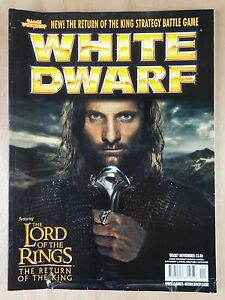 WHITE DWARF 287 Nov 2003 NEW-Return of the king strategy game Free 1st class
