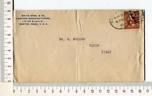 24726) USA 3.3.1896 Cover Boston Torino (Italy) 13.3.1896