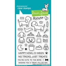 Lawn Fawn Clear Stamp Set - HAPPY HOWLOWEEN - Dogs - Halloween