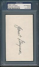 Janet Gaynor Index Card PSA/DNA Certified Authentic Auto Autograph Signed *5696
