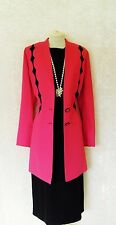 CONDICI Size 18 Black Red Pink Ladys Designer Wedding Dress & Jacket Coat Outfit