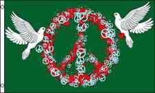 3x5 Peace Love Doves Green Flag 3'x5' Banner Brass Grommets