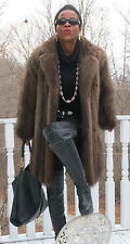 Fabulous Designer Rosenthal Fisher Sable Fur Coat Jacket stroller M 6-10