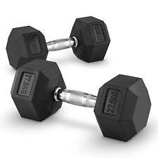 CAPITAL SPORTS KURZHANTEL PAAR 27,5 KG GEWICHTE 2 X FITNESS KRAFTSPORT DUMBBELL