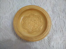 Rustic Hand Carved Wood Dish Plate