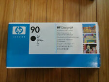 New HP 90 Black PRINTHEAD and Cleaner DESIGNJET 4000 GENUINE C5054A Exp. 2017