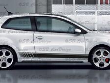 Bande laterali adesivo strisce (F) . VW POLO V 3-türer ALLSTAR R WRC GTI TDI
