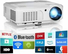 """New Listing5000lm Home Theater Android Led Projector Blue-tooth Hdmi Usb Bundle Screen 100"""""""