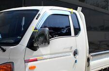 Chrome Window Visor Vent Rain,Wind:2p Made Korea for Hyundai PorterⅡ/H100 04~