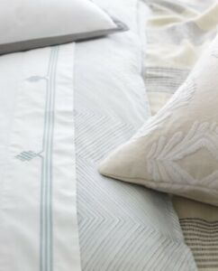 $348 Serena and Lily Grammercy Duvet Cover (Fog) King/Cal King - NWT - SOLD OUT