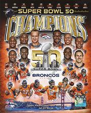 DENVER BRONCOS 2015-2016 Super Bowl 50 Champions 8X10 Team Composite Photo