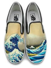 The Great Wave Slip-on Vans Brand Shoes