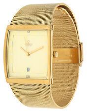 Obaku Herren Armbanduhr Gold V102GDGGMG
