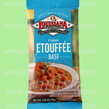 LOUISIANA CAJUN ETOUFFEE BASE 12 Bags x 2.65oz, FOR CRAWFISH, SHRIMP, OR CHICKEN