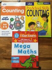 CHILDREN'S EARLY LEARNING COUNTING AND MATHS ACTIVITY BOOKS, NEW