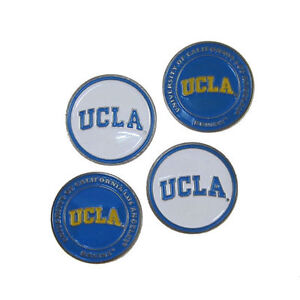 """UCLA BRUINS GOLF BALL MARKERS """"NEW"""" 4 PACK COMBO PACKAGE DEAL"""