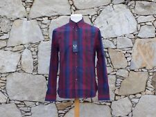 FRED PERRY.  Long Sleeve Check Shirt M6133.  100% Cotton.  Size 38.  BNWT.