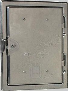 Kamintür Schornsteintür aus Edelstahl von Möck verschiedene Größen zur Wahl