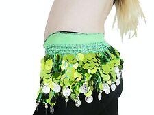 Lime green Chiffon Paillete hip scarf