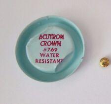Vintage BULOVA Accutron Wrist Watch Crown # 769 yellow New Old Stock