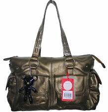 Il Tutto Mia Bronze Nappa Leather Changing Nappy Bag & Accessories NWT SP £269