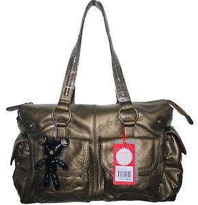 Il Tutto Mia Bronze Nappa Leather Changing Nappy Bag & Accessories NWT SP £269