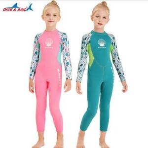 Kids 2.5MM Neoprene Wetsuit Children Scuba Diving Jellyfish Long Surfing Wear
