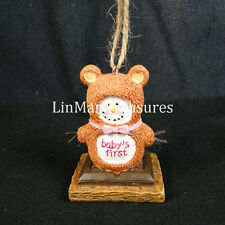 S'mores Baby's First Teddy Bear Ornament Midwest CBK