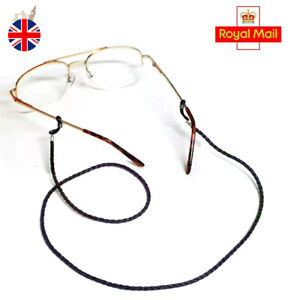 TWIST LEATHER spectacles reading GLASSES CORD chain neck strap lanyard
