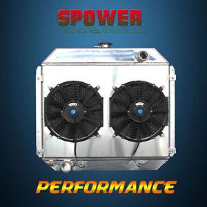 Aluminum Radiator + Fan Shroud For Ford Bronco Ranger F-100/150/250/350 V8 70-79