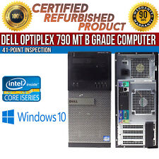 Dell OptiPlex 790 MT Intel i7 8GB RAM 1TB HDD Win 10 USB VGA LAN B Grade Desktop