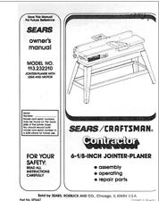 Craftsman 113.232210 Jointer-Planer Owners Instruction Manual