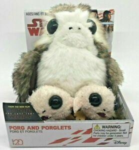 Star Wars PORG and PORGLETS Plush 2018 Set by Disney The Last Jedi Collection