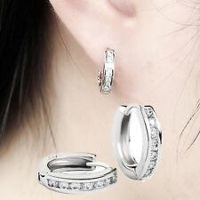 Ear Ring Earrings Gif Lad 1 Pair Silver plated Zircon Rhinestone