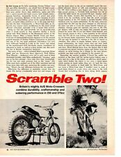 1970 NORTON 250 & 370cc SCRAMBLER MOTORCYCLE ~ ORIGINAL 2-PAGE ARTICLE / AD