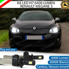 KIT FULL LED RENAULT MEGANE 3 III  LAMPADE LED H7 6000K BIANCO GHIACCIO NO ERROR