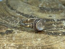 Size 6.75 Estate Find 925 Sterling Silver Ring w Opal Stone