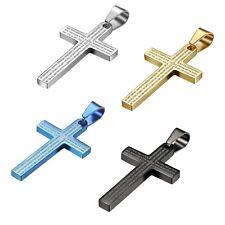 Bibel Gebet Kreuz Edelstahl Anhänger, Halskette mit 55cm Kette für Herren Damen