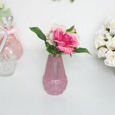 Small Pink Glass Bud Vase home decor flowers pretty modern art deco wedding