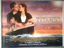 Cinema Poster: TITANIC 3D 2012 (Main Quad) Leonardo DiCaprio Kate Winslet